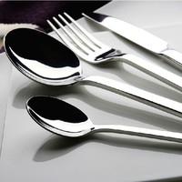 Hpp&Lgg Brand Dinnerware Sets stainless steel Kitchen tableware dinner spoon cutlery and fork 4pcs cutlery flatware set