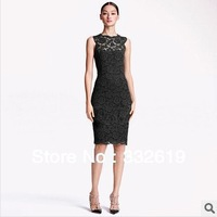 Free shipping sexy black lace party dresses new fashion 2014 plus size women clothing club dresses