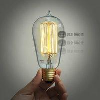 ST58 Vintage light source household e27 macrocoil incandescent lamp bulb light bulb