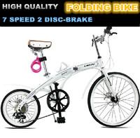 "2014 New Folding Bike Bicycle Asymmetry Wheels 24""/16"" Foldable Bicicleta Dobravel Disc Brake  7 Speed Hot Selling!"