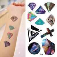 Temporary Tattoo stickers Fashion w76 HARAJUKU diamond cross magic colorful moon tattoo  body art