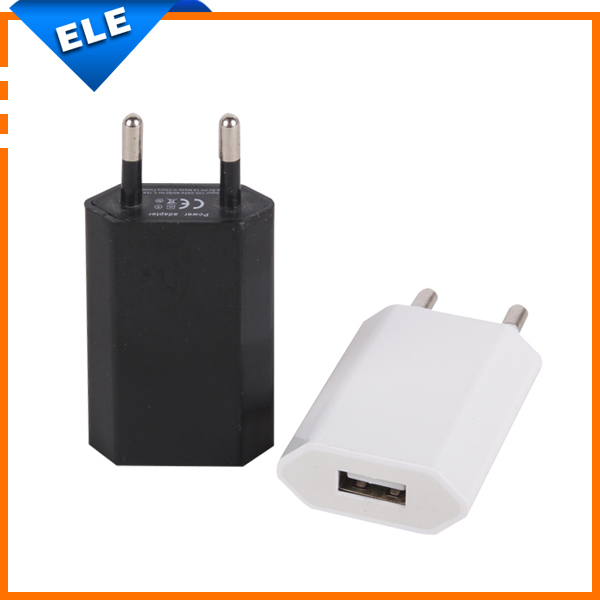 EU Plug usb power adapter Travel Wall Charger 5V 1A android mobile phone charger(China (Mainland))