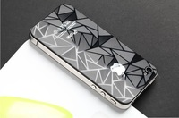 10pairs/lot for iphone 4 screen protector for iphone 4s screen 3D Diamond film for iphone 4s screen guard