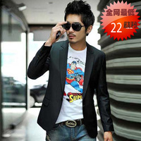 Spring and autumn men's 2013 men's clothing outerwear blazer Men slim casual suit male blazer