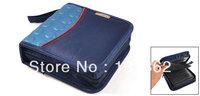 Portable Blue Zip Up EVA Dots 40PCS CDs DVDs Disc Bag Holder 15cmx15cmx5cm