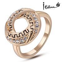 Real Italina Rigant Genuine Austria Crystal 18K gold Plated Rings for Women Enviromental Anti Allergies  #RG96517