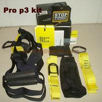 p3 Professional  hanging training fitness Kit +hanging anchor+door anchor+x tender+mesh carry bag +handbook yoga workout
