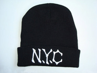 N.y.c beanie tara n4 nyc embroidery knitted hat knitted hat winter hat cold cap  free  shipping