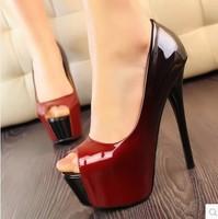 Popular fashion ultra high heels shallow mouth platform open toe shoes New Women's Pumps Sexy women pumps high-heel shoes