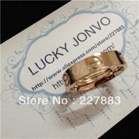 Titanium steel screw love ring titanium steel finger ring Love series 18k rose gold plated Titanium steel spike Lovers ring