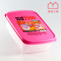 Pinyou Home, Crisper, Creative household items, made in Japan, large capacity, storage tanks, 3 colors, PP, D5799, 2200ML