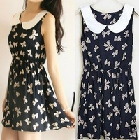 Summer casual cotton dress for women, 2014 New women's pattern dresses 4styles W3349