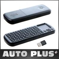 Hot iPazzPort 2.4G RF Mini Wireless Keypad Handheld Keyboard Touchpad Smart TV / PC Remote QWERTY LED Light Computer Peripherals