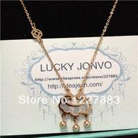 Free Shipping Classical elegant titanium rose gold necklace female short design fashion accessories jewelry