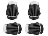 New 4 X Air Filter 50MM Fit Motorcycle Chrome Power Scooter Cone race Replace Free Shipping
