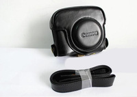 Black Leather Camera Case Bag Cover For  Powershot G16 G 16 + Free shipping