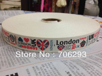 "1""(25mmx100m) 100% cotton ribbon Zakka Retro Handmade dots Cotton Ribbon Sewing label London UK heart lace"