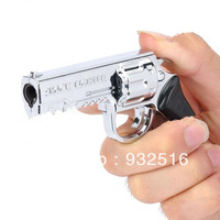 2-in-1 Gun Style Electric Shock Butane Jet Torch Lighter
