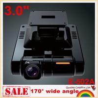 "Free shipping!E-502A Novatek Mini 3.0"" Car DVR recorder  car camera cycle recording 170 degree Wide Angle night vision G-sensor"