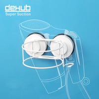 Free shipping vacuum suction cup Hair Dryer Holder Super sucker hair dryer shelf Korea DeHUB wall-mounted hair dryer drum rack