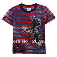 2014 NEW Free shipping 5pcs/lot  children clothes boy summer t-shirt boy 100%cotton cartoon stripe tops boys cool tees