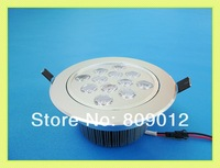 high power LED recessed ceiling spot light lamp 12W LED down light downlight LED ceiling light 12W AC85-265V free shipping