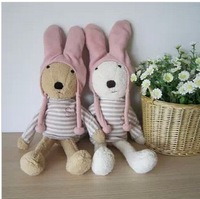 "Hot sale high quality  brand Le sucre16.5"" cute animal rabbit children plush toy/kids dolls 1pcs+free gift"