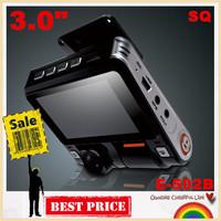 "Special offer!E-502B SQ Mini 3.0"" Car DVR recorder  car camera cycle recording 170 degree Wide Angle night vision G-sensor"