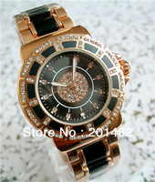 2013 New Luxury Stainless Steel Women's rhinestone Watches T Watch Quartz  Wrist Watches 2 Color