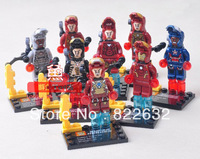 SY Building Blocks Hot Toy Super Heroes Iron Man Minifigures Construction Sets Educational Bricks Toy for Boy Gift