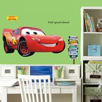 cartoon Car wall sticker, child room decoration removable home decor