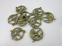 20PCS/LOT DIY Jewelry Findings 25MM Antique Bronze The Hunger Games Connector Jewelry Making Accessories Free Shipping