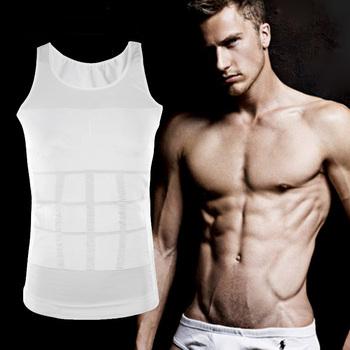 Men's tight Slimming body Shaper Belly Fatty underwear garment Жилет Shirt Compression ...