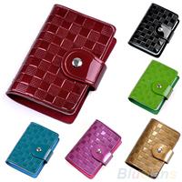 New Hot Women Lady Patent Leather ID Credit Card Case Holder Pocket Handbag Wallets 02RE