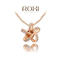 2014 ROXI brands  fashion  necklace/Chrismas gifts, Austrian crystal,fashion Environmental  women sea ster Jewelry