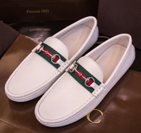 New 2014 high quality brand slip-on men gommino moccasins casual creepers band men flats slip-on genuine leather zapatos hombres