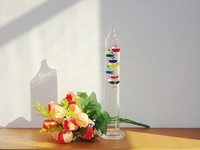 Galileo thermometer dream suspension ball glass as Birthday Gift home decoration Crafts 9 ball 47*450mm