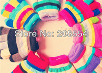 children's gloves autumn and winter warm color gloves mix order 12pcs/lot