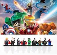 Decool Building Blocks Toys Minifigure Iron Man Super Man Bat Man Super Heroes Educational Bricks Toys for Children Gift