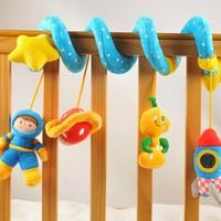 Hessie Stroller Pram Hanging Spiral Soft pp cotton Plush hanging toy multifunction For children Crib Mobile free shipping