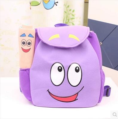 Children School Bag Cartoon adventurous dora backpacks Plush with Map Girls Kindergarten The Explorer Rescue Bag Wholesale(China (Mainland))
