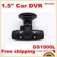 "Free shipping! Novatek GS1000L 1.5"" Car DVR recorder car camera full HD 1080P 30fps LCD built in GPS Wide Angle night vision"