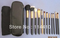hot sale 2013 Fashion New Professional 12 pcs Makeup Brushes Cosmetic Facial Care Beauty Make Up Set With 2 Case Bag