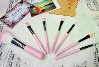 Sweet Pink Hello Kitty Cosmetic Brush Set (7 pcs/set ) Makeup Brushes Set