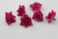 50PCS Raspbery red   Silk flowers head roses wedding decoration