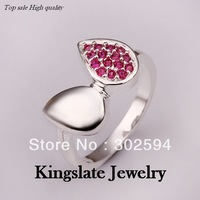 R354 wholesale 3 color Beautiful fashion 925 silver  Austrian crystal pretty cute lovely Ring jewelry New arrive TOP SELL