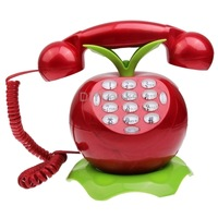 Creative Red Shape Wire Corded Telephone for the Home Office