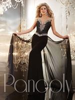 Sexy Black New Custom Made Jewel Cap Sleeve Beaded Chiffon Sleeveless Sheath Long Formal Evening Dresses 2014