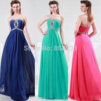 Light Sea Green Charming floor length Long Beaded Sweetheart Bridesmaid Dress Gown CL4413-2#