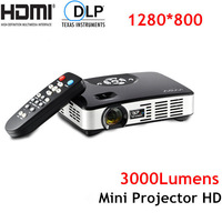 1080P Projetor 3000lumens Full HD Projector, 1280*800, with VGA, HDMI, AV, USB, SD ports